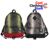 Supreme Unisex Street Style Collaboration Python Backpacks