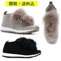 Jimmy Choo Round Toe Rubber Sole Casual Style Street Style