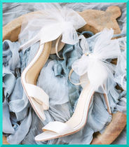 BHLDN Open Toe Plain Pin Heels Party Style Stiletto Pumps & Mules
