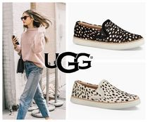 UGG Australia Leopard Patterns Rubber Sole Spawn Skin Slippers