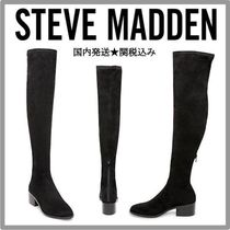 Steve Madden Casual Style Suede Plain Over-the-Knee Boots