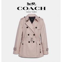 Coach Short Casual Style Plain Trench Coats