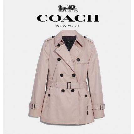 Short Casual Style Plain Trench Coats