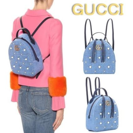 f4028d6d383b GUCCI GG Marmont 2018-19AW Backpacks by Ravie - BUYMA