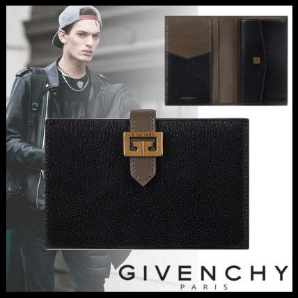 GIVENCHY Folding Wallets Street Style Plain Leather Folding Wallets
