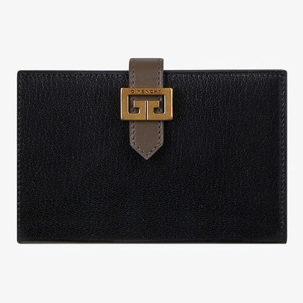GIVENCHY Folding Wallets Street Style Plain Leather Folding Wallets 2