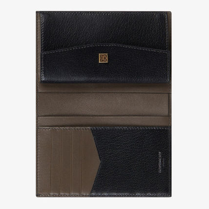 GIVENCHY Folding Wallets Street Style Plain Leather Folding Wallets 5