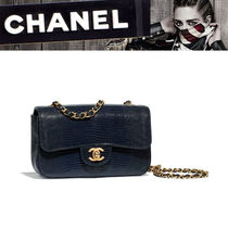 CHANEL Other Animal Patterns Leather Elegant Style Handbags