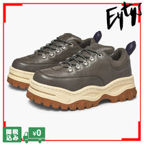 Eytys Platform Lace-up Casual Style Unisex Street Style Leather