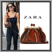 ZARA Casual Style Chain Plain Crystal Clear Bags Shoulder Bags