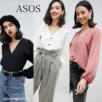 ASOS Long Sleeves Plain Home Party Ideas Shirts & Blouses