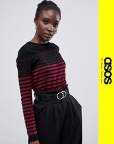 ASOS Stripes Casual Style Long Sleeves Lace Sweaters