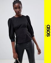 ASOS Casual Style Puffed Sleeves Tops