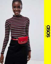ASOS Stripes Casual Style Long Sleeves Tops