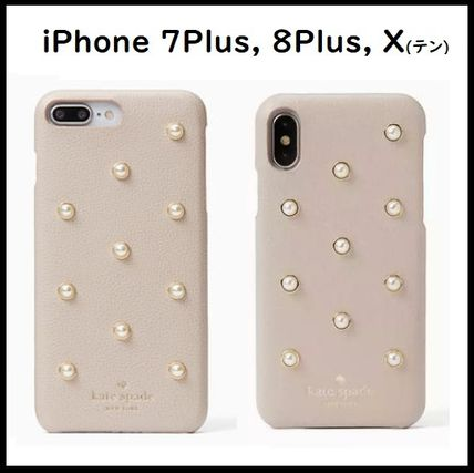 Dots Plain Leather Smart Phone Cases