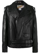 VETEMENTS Short Casual Style Street Style Plain Leather Biker Jackets