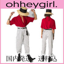 Oh Hey Girl Dots Casual Style Unisex Street Style Long Sarouel Pants