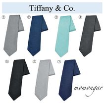 Tiffany & Co Unisex Silk Plain Ties