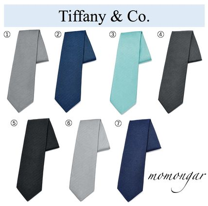 Unisex Silk Plain Ties