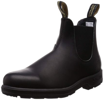 Street Style Plain Leather Chelsea Boots