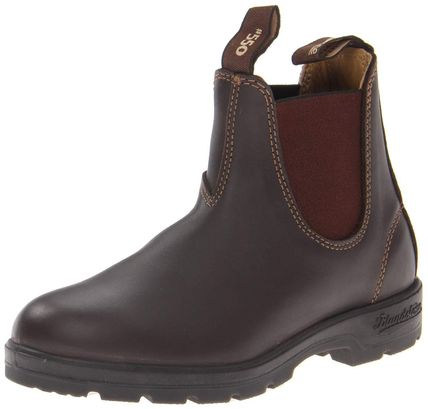 Street Style Collaboration Plain Leather Chelsea Boots