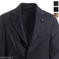 LARDINI Wool Long Chester Coats