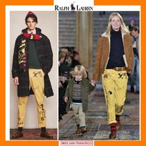 Ralph Lauren Printed Pants Unisex Corduroy Patterned Pants