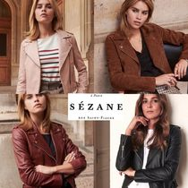 SEZANE Leather Biker Jackets