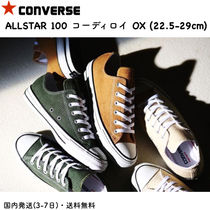 CONVERSE ALL STAR Rubber Sole Casual Style Unisex Street Style Plain Khaki