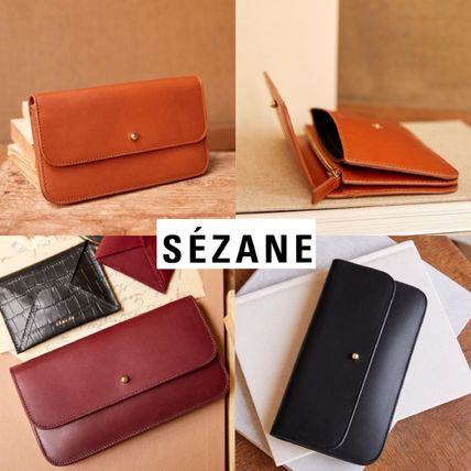Leather Folding Wallet Long Wallets