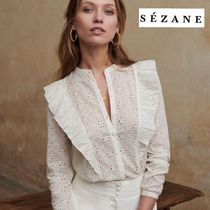 SEZANE Casual Style Long Sleeves Cotton Shirts & Blouses