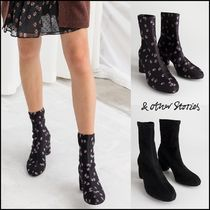 & Other Stories Flower Patterns Plain Block Heels Ankle & Booties Boots