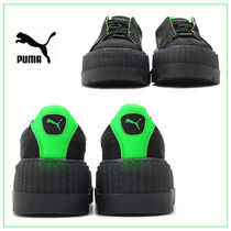 PUMA FENTY Lace-up Casual Style Street Style Bi-color Plain