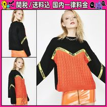 DOLLS KILL Cable Knit Casual Style Long Sleeves Knitwear