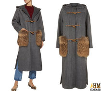 Weekend Max Mara Wool Plain Medium Office Style Duffle Coats