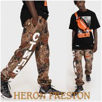 Heron Preston Printed Pants Camouflage Street Style Cotton Patterned Pants