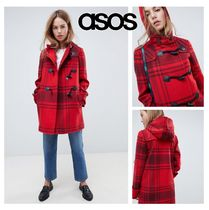 ASOS Other Check Patterns Casual Style Wool Coats