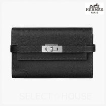 HERMES Kelly Calfskin Folding Wallets