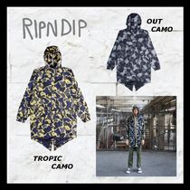 RIPNDIP Camouflage Tropical Patterns Unisex Street Style Long
