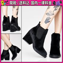DOLLS KILL Round Toe Casual Style Plain Chunky Heels