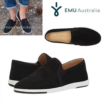 Round Toe Casual Style Suede Low-Top Sneakers