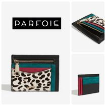 PARFOIS Leopard Patterns Suede Coin Purses