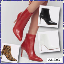 ALDO Leopard Patterns Plain Leather Pin Heels