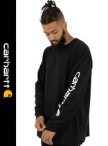Carhartt Crew Neck Street Style Long Sleeves Logos on the Sleeves