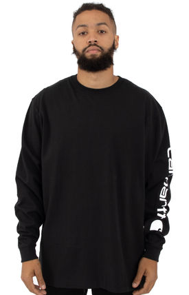 Carhartt Long Sleeve Crew Neck Street Style Long Sleeves Logos on the Sleeves 2