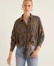 MANGO Tartan Other Check Patterns Casual Style Wool Long Sleeves