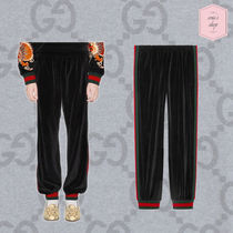 GUCCI Stripes Street Style Plain Cotton Oversized Sarouel Pants