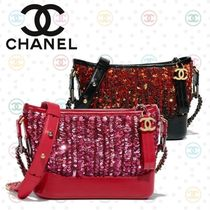 CHANEL Calfskin 3WAY Chain Elegant Style Shoulder Bags