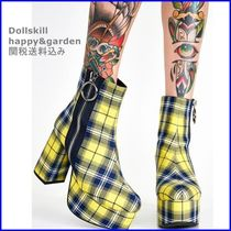 DOLLS KILL Other Check Patterns Platform Round Toe Casual Style