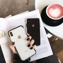 Unisex Street Style Bi-color Plain Smart Phone Cases